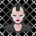 Punk White Female Icon