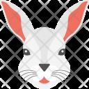 White Rabbit Face Icon