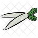 White Radish Radish Vegetable Icon