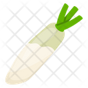 White Radish Healthy Food Vegan Vegetable Icon