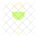 White Wine Wine Glass White Icon
