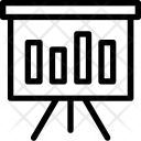 Whiteboard Blackboard Graph Icon