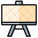 Whiteboard Projection Educational Icon