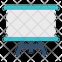 Whiteboard Screen Education Icon