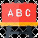 Whiteboard Alphabets Nursery School Icon