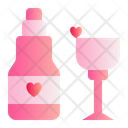 Wine Love Romance Icon