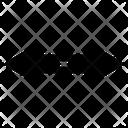 Wide Arrow Pin Location Icon