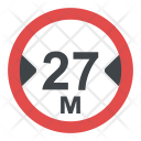 Width Limit Sign Icon