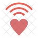 Wifi Network Heart Icon