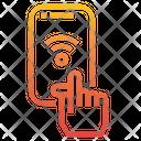 Smartphone Hand Wifi Icon