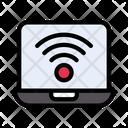 Wifi Internet Laptop Icon