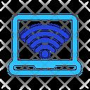 Laptop Wireless Signal Icon