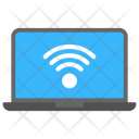 Wifi Signals Laptop Icon