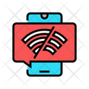 Wifi Disconnected Mobile Icon