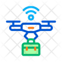 Wifi Powered Drone Icon