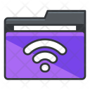 Wifi Folder Collection Icon
