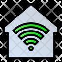 Wifi Home Internet Home Smart House Icon