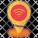 Pin Location Wifi Icon