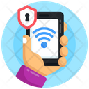 Mobile Wifi Wifi Security Wifi Protection Icon
