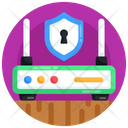 Router Security Wifi Security Router Protection Icon