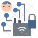 Hacker Wifi Signal Icon