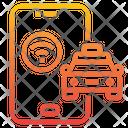 Taxi Smartphone Wifi Icon