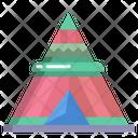 Wigwam Tent Camp Icon