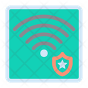 Shield Wireless Signal Icon