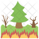Wildfire Natural Disaster Bush Fire Icon