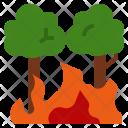 Wildland Wildfire Destroy Icon