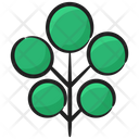 Wild Tree Evergreen Plantation Icon
