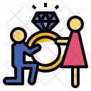 Will You Marry Me Rings Engagement Icon
