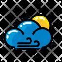 Weather Wind Sun Icon