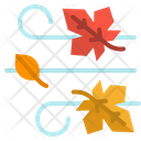 Wind Autumn Leaf Icon