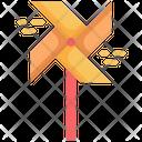 Wind Turbine Paper Icon