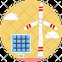 Solar Energy Wind Energy Renewable Energy Icon