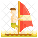 Wind Surfing Sailboarding Boardsailing Icon