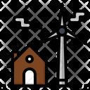Wind Turbine House Icon