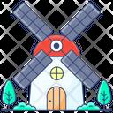 Windmill Wind Turbine Aerogenerators Icon