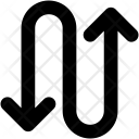 Winding Arrow Icon