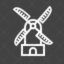 Windmill Energy Ecology Icon
