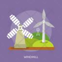 Windmill Agriculture Farm Icon