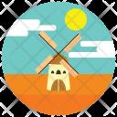 Windmill Sun Field Icon