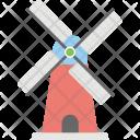 Traditional Dutch Windmill Icon