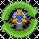 Windmill Transfer Power Icon