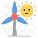 Windmill Emoticone Emoji Icon of Colored Outline style - Available
