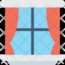 Window Frame Curtain Icon