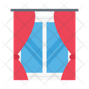 Window Curtains House Icon