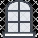 Window Room Interior Windowsill Icon
