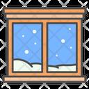 Winter Window Home Icon